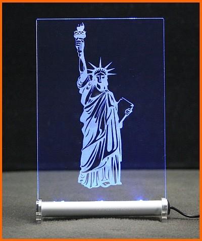 Liberty Freiheitsstatue 2 LED Leuchtschild