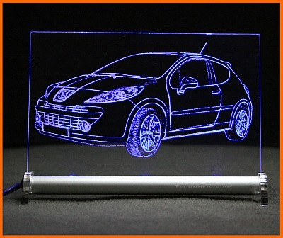 Peugeot 207 RC LED Leuchtschild