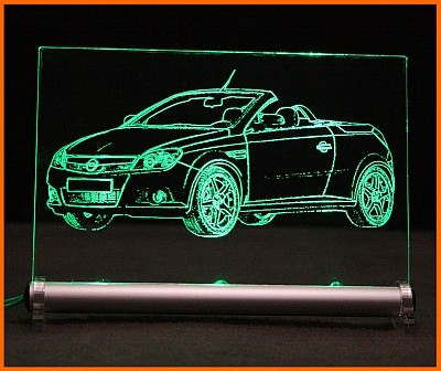 Opel Tigra Twin Top LED Leuchtschild