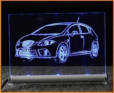 Seat Leon FR LED Leuchtschild