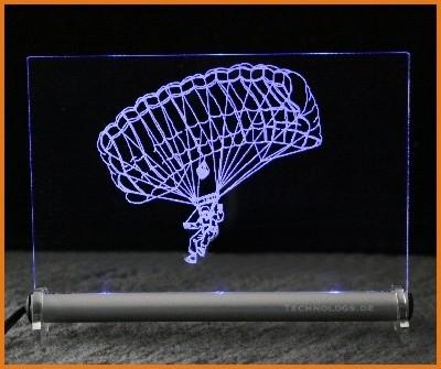 Skydiving / Paragliding LED Leuchtschild