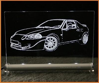 Honda CRX Targa del sol Vti LED Leuchtschild