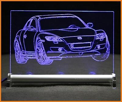 Mazda RX8 LED Leuchtschild