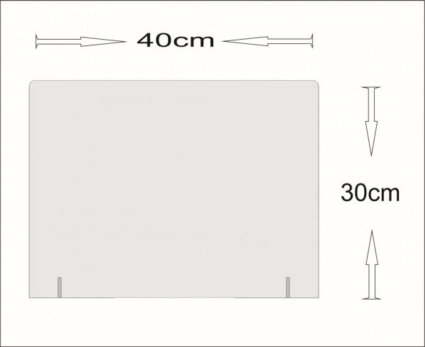 Acrylglas Schutz-Aufsatz für Theke