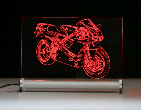 Ducati 916 LED Leuchtschild