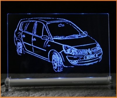 Renault Scenic LED Leuchtschild