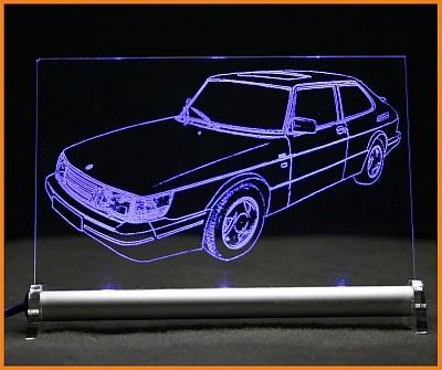 Saab 900 I turbo LED Leuchtschild
