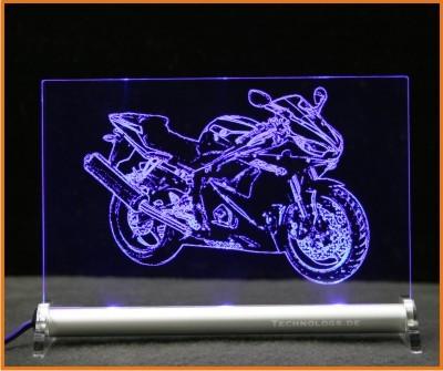 Yamaha R6 LED Leuchtschild