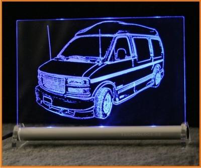 GMC Savana Van LED Leuchtschild