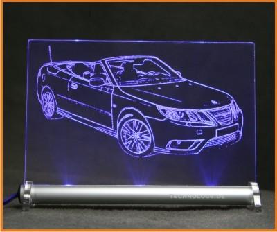 Saab 9-3 cabrio LED Leuchtschild