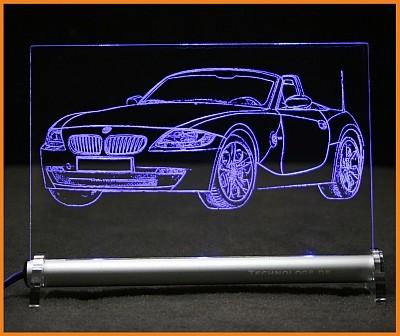 BMW Z4 LED Leuchtschild