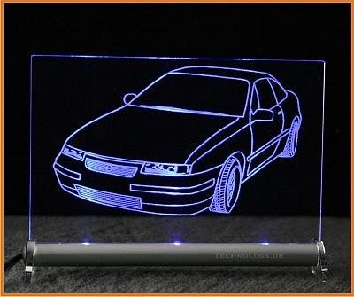 Opel Calibra LED Leuchtschild