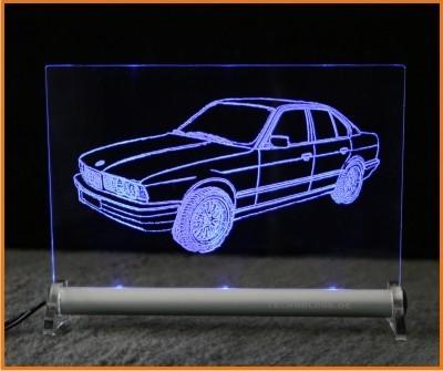 BMW 5 E34 Limousine LED Leuchtschild