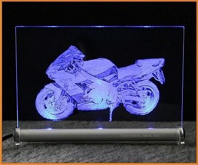 Kawasaki ZX 9 R LED Leuchtschild