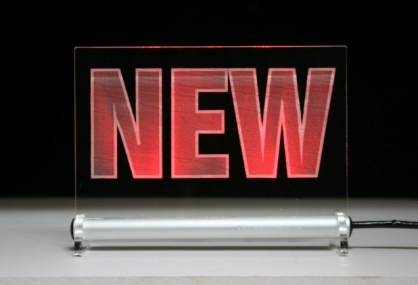NEW Hinweisschild LED Leuchtschild