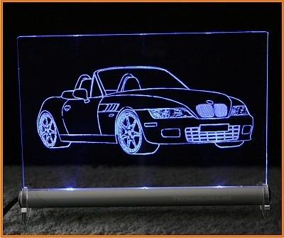 BMW Z3 LED Leuchtschild