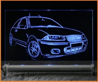 Rover 214 Si LED Leuchtschild