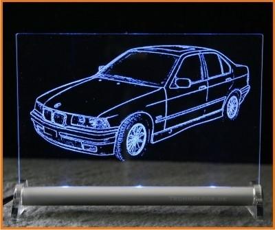 BMW 3er E36 limousine LED Leuchtschild