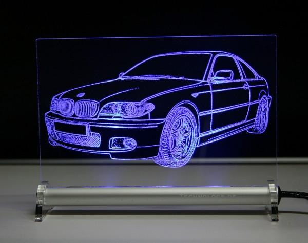 BMW 3er E46 coupe LED Leuchtschild