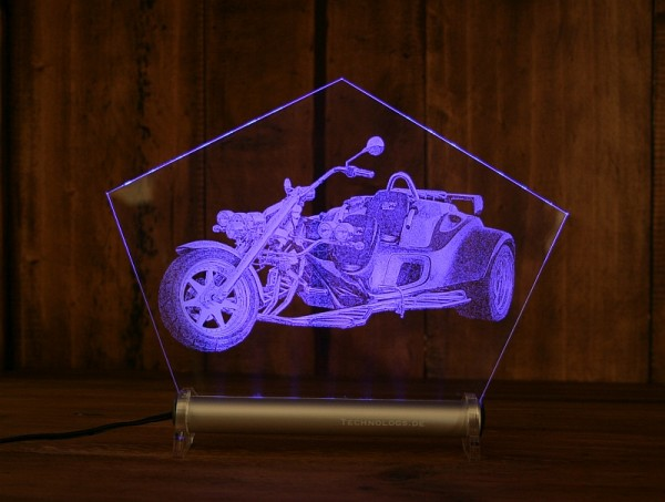 LED-Fotogravur Aufsteller Gravur individuell