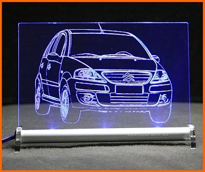 Citroën C3 LED Leuchtschild
