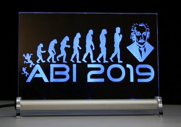 ABI 2019 Evolution Abitur LED Leuchtschild