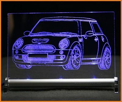 Mini Cooper S JCW LED Leuchtschild