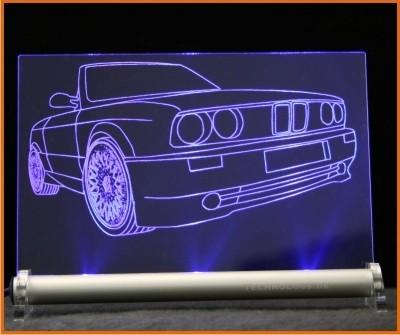 BMW 3 E30 Cabrio LED Leuchtschild
