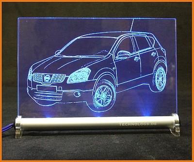 Nissan Qashqai LED Leuchtschild