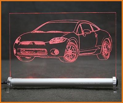 Mitsubishi Eclipse GT G4 LED Leuchtschild