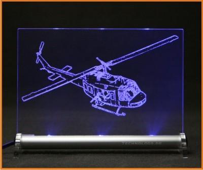 Bell UH 1D Hubschrauber LED Leuchtschild