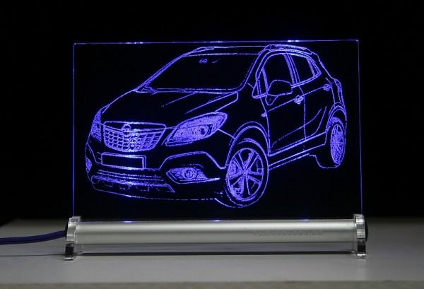 Opel Mokka LED Leuchtschild