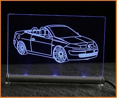 Renault Megane CC LED Leuchtschild