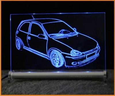 Opel Corsa B LED Leuchtschild