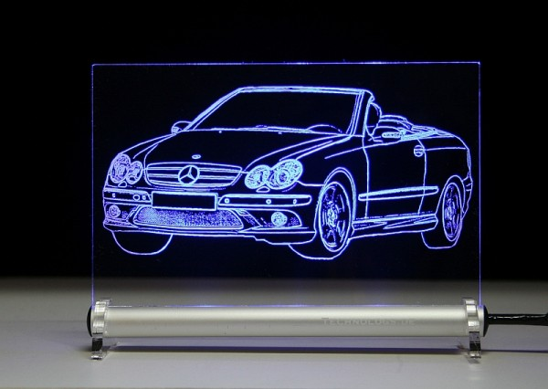 Mercedes W209 CLK Cabrio LED Leuchtschild