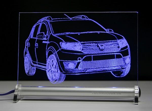 Dacia Sandero Stepway LED Leuchtschild