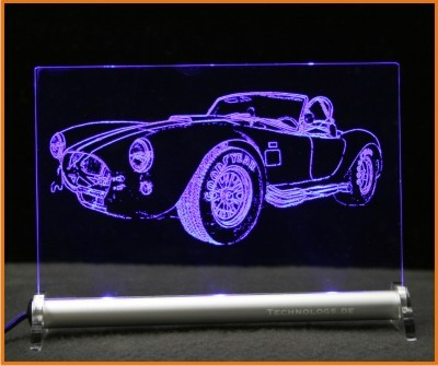 Shelby Cobra LED Leuchtschild