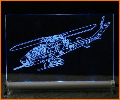 Kampfhubschrauber Cobra / Apache LED Leuchtschild