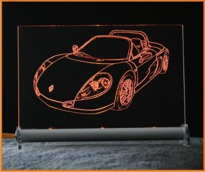 Renault Sport Spider mit Scheibe LED Leuchtschild