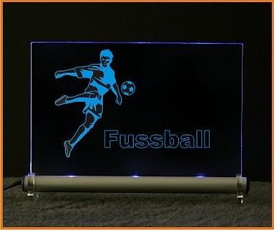 Fussball LED Leuchtschild
