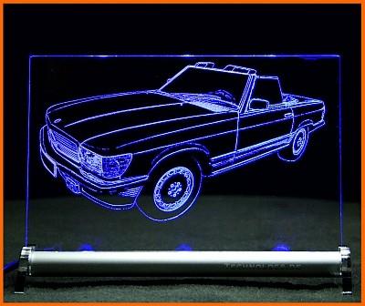 Mercedes SL R107 LED Leuchtschild