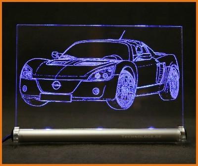 Opel Speedster LED Leuchtschild