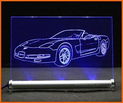 Corvette C5 LED Leuchtschild