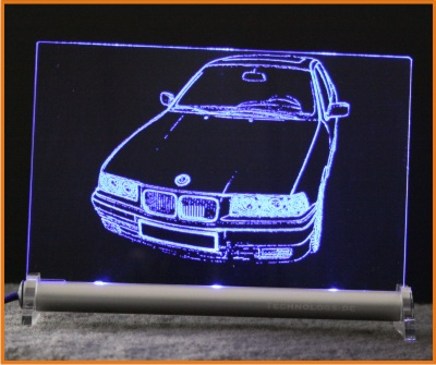 led leuchtschild mit gravur bmw 3er e36 technologs shop. Black Bedroom Furniture Sets. Home Design Ideas