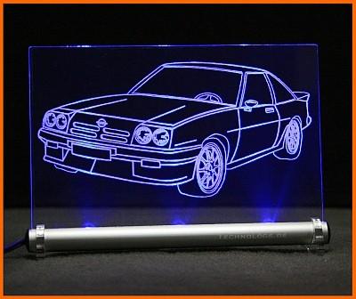 Opel Manta B LED Leuchtschild