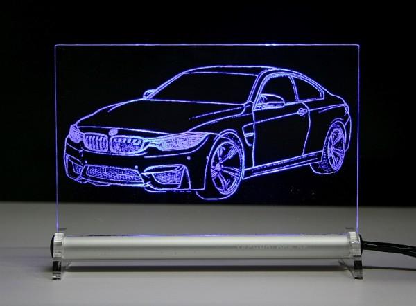 BMW M4 LED Leuchtschild
