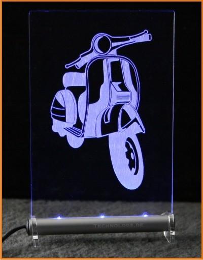 Vespa Roller LED Leuchtschild