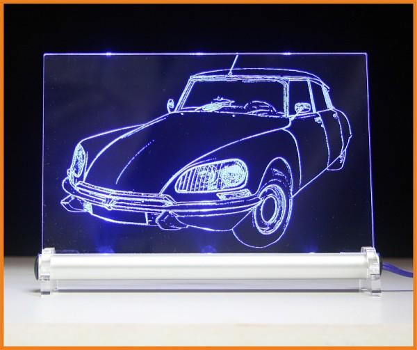Citroën DS Pallas La Déesse LED Leuchtschild