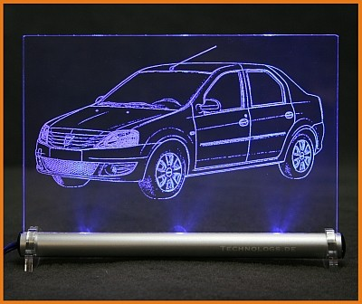 Dacia Logan LED Leuchtschild