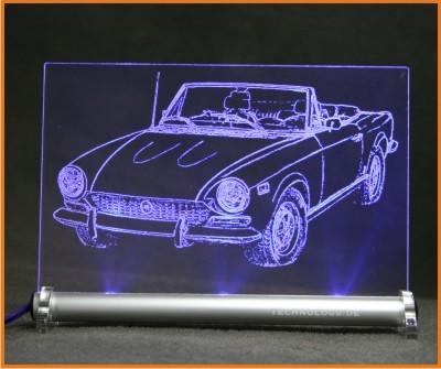Fiat 124 Spider LED Leuchtschild